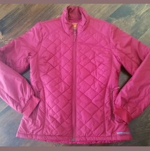 Merrell red quilted jacket  Opti Warm Size Medium